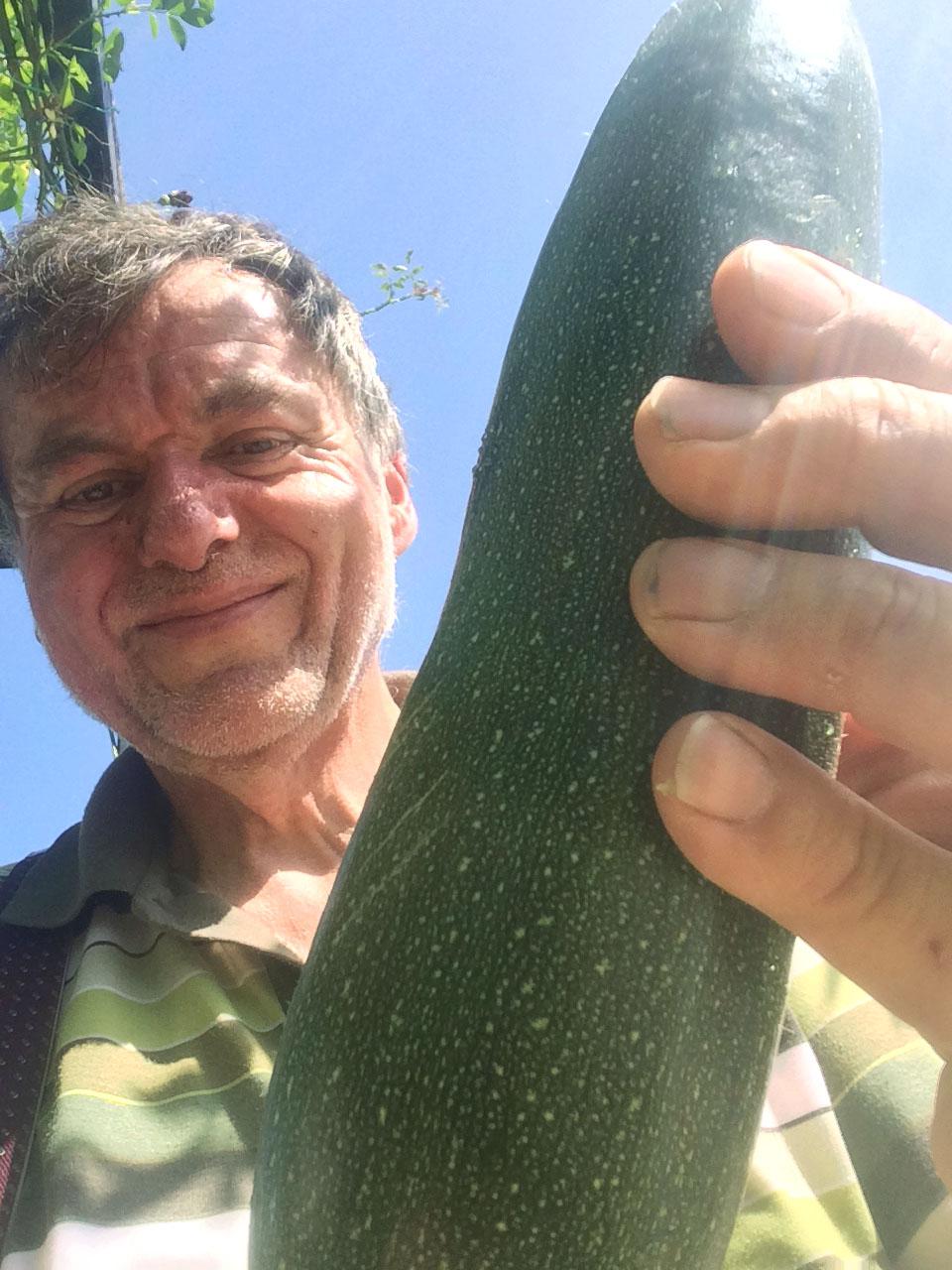 Otto-Bauer mit Zucchini - Gesundheit-aus-dem-Garten