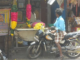 Journey to India - Bazar by Motorcycle